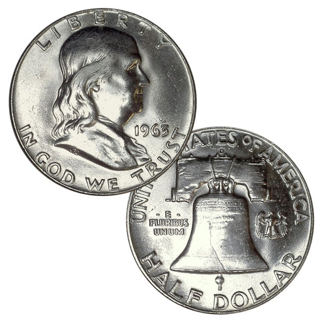 90% Silver Franklin Half Dollar Brilliant Uncirculated