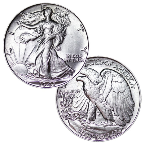 90% Silver Walking Liberty Half Dollar Brilliant Uncirculated BU