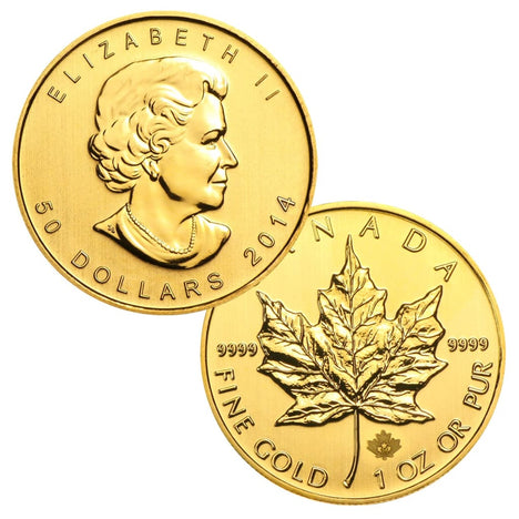 .9999 1 Ounce Gold Canadian Maple Leaf