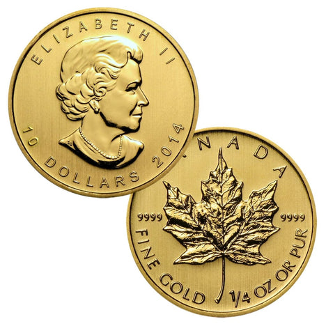 .9999 1/4 Ounce Gold Canadian Maple Leaf