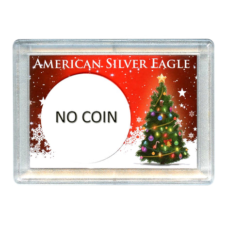 Silver American Eagle HEH Holder - Christmas Tree Design No Coin