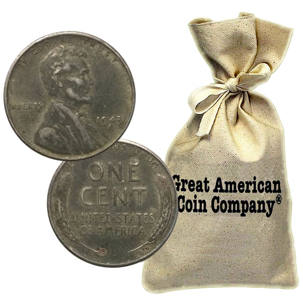 includes steels, Wheat Penny Bag of 500 Wheat Cents