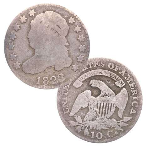 Capped Bust Dime In Circulated Condition