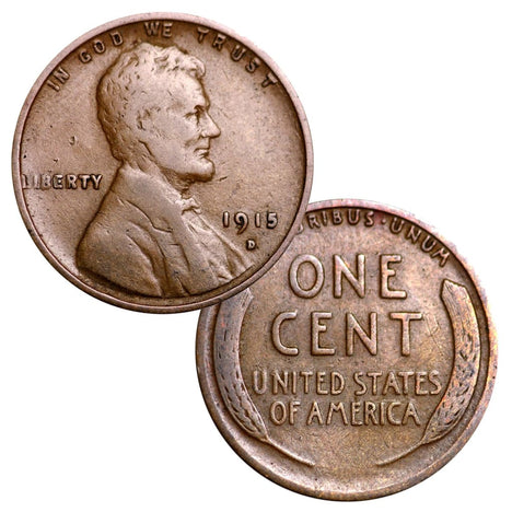 Circulated Wheat Cents from the 1910s (Individual Coins) (1910-1919)