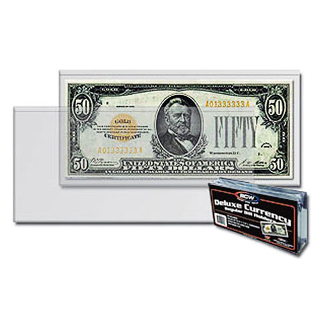 Deluxe BCW Regular Semi-Rigid Currency Banknote Holder