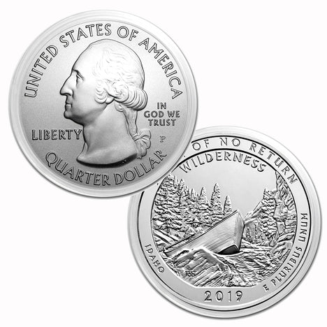 2019 $.25 5 oz Silver America the Beautiful Frank Church River of No Return Wild, Idaho