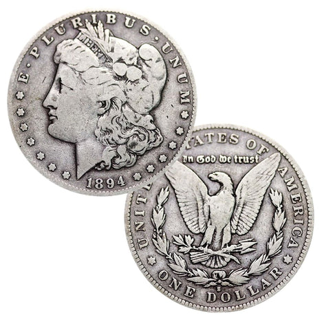 Lot of 2 - Pre-1921 90% Silver Morgan Dollar (1878-1904) Circulated VG or Better - SALE!