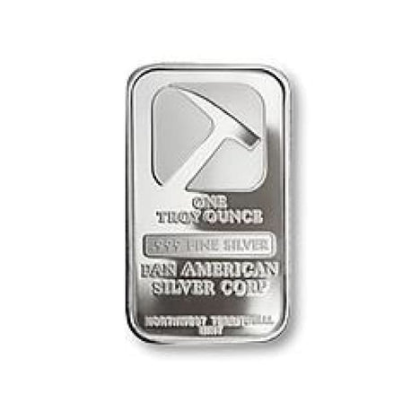 One Ounce .999 Fine Silver Bar - Pan American Silver