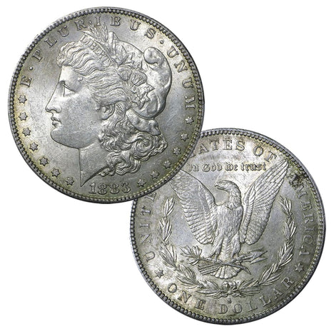 Pre-1921 90% Silver Morgan Dollar (1878-1904) About Uncirculated
