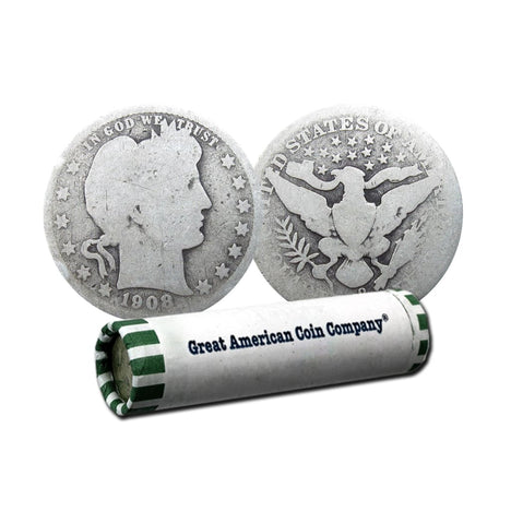 Roll of 40 - 90% Silver Barber Quarters $10 Face Circulated