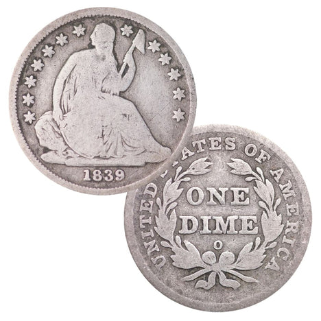 Seated Dime In Circulated Condition
