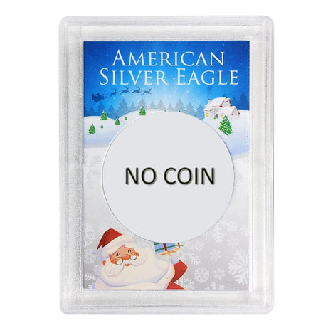 Silver American Eagle HE Harris Holder - NO COIN - Santa Design