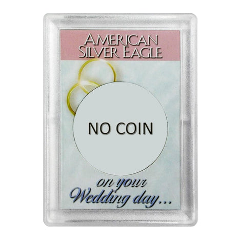 Silver American Eagle HE Harris Holder - NO COIN - Wedding Day Design