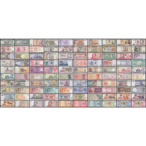 World Currency - Uncirculated Banknote Set - Lot of 100