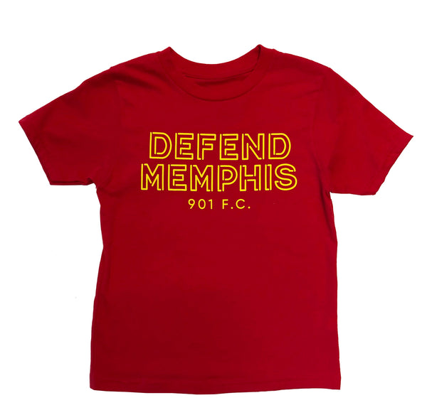 FC Youth Defend Memphis Red Tee