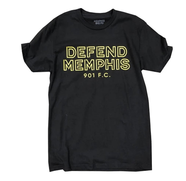 "901 FC ""Defend Memphis"" Black Tee"