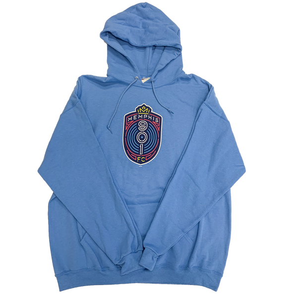 Light Blue Full Crest Hoodie