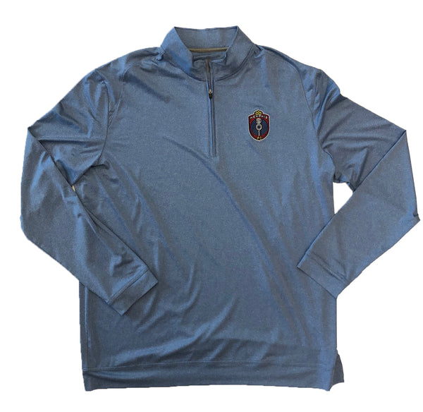 FC Quarter Zip Men's Flex Light Blue Pullover