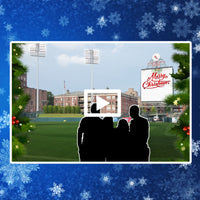 Christmas Card Photo on the Field with Video Message