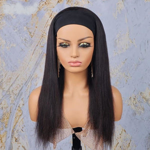 Straight Human Hair Headband Wigs - Demyhair
