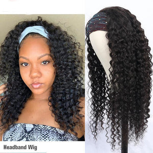 Loose Curly Headband Wig 150% - Demyhair