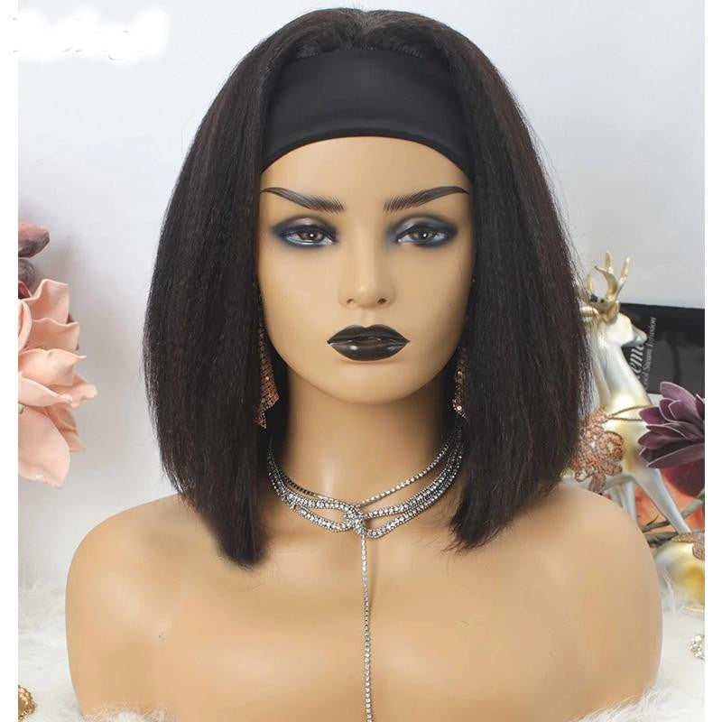 Yaki Straight Headband Human Hair Wig - Demyhair