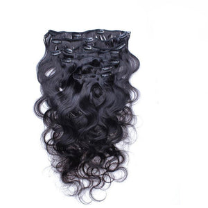 Body Wave Clip In Brazilian Human Hair Extensions Demyhair