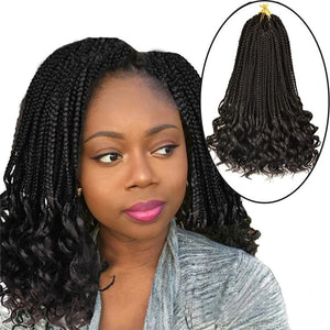Curly Box Braid Crochet Hair