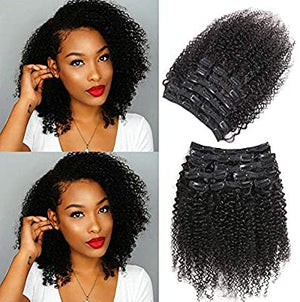 Demy Hair 3C Kinky Curly Clip In Brazilian Human Hair Extensions