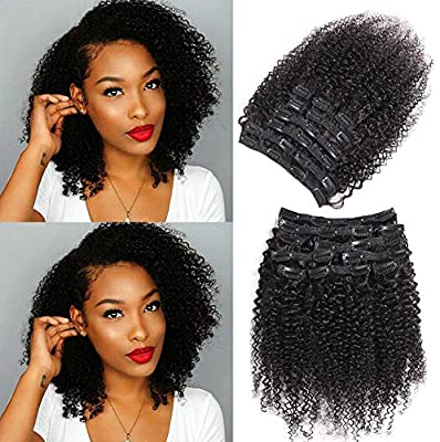3C Kinky Curly Clip In Brazilian Human Hair Extensions - Demyhair
