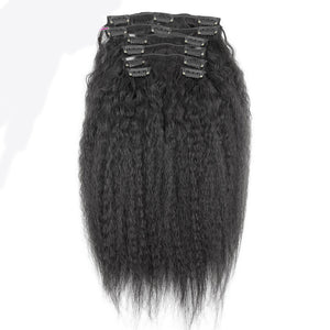 KINKY STRAIGHT BRAZILIAN CLIP IN HAIR EXTENSIONS - Demyhair