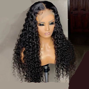 4x4 Deepwave Human Hair Lace Frontal Wig