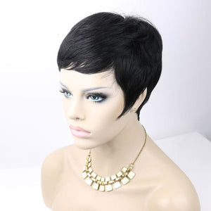 Pixie Cut Wigs Short Human Hair Full Wig With Bangs DemyHair