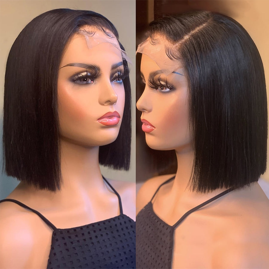 Straight Lace Frontal Short Wig