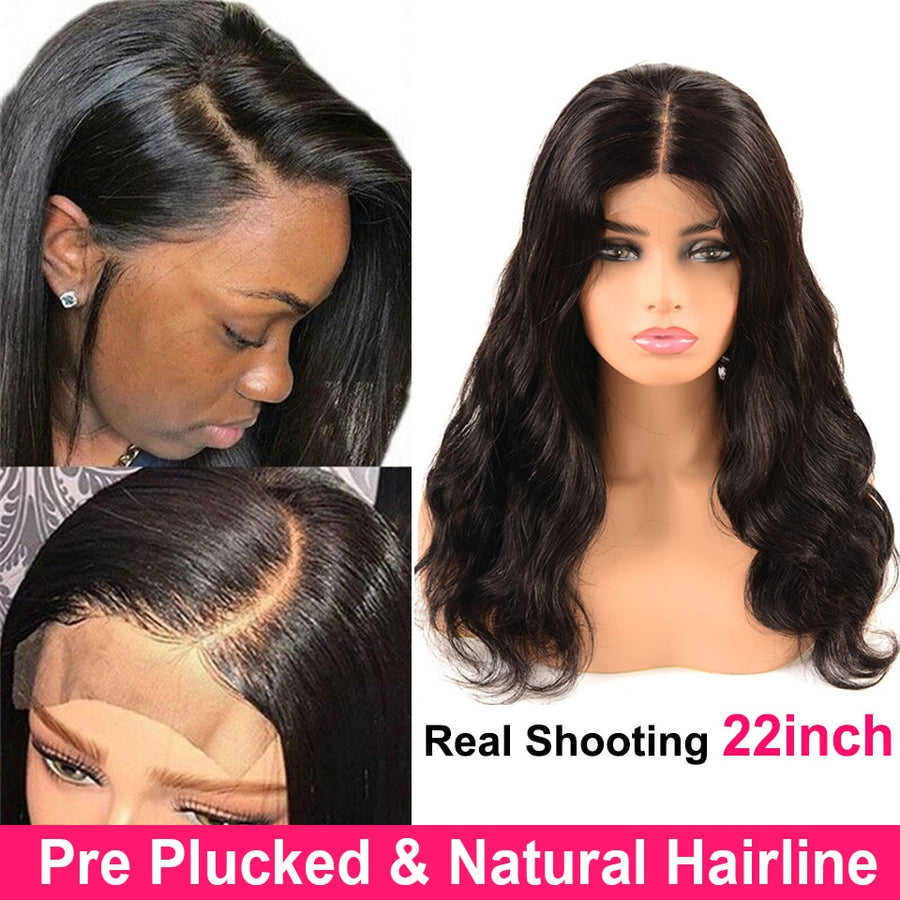 4x4 Bodywave Human Hair Lace Closure Wig