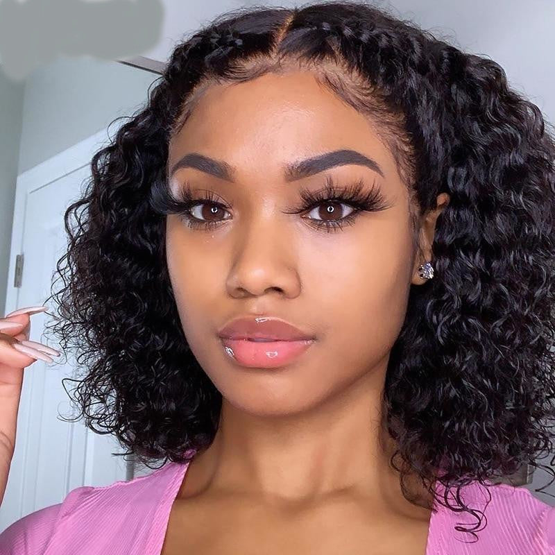 DemyHairCurly Glueless Full Lace Wigs