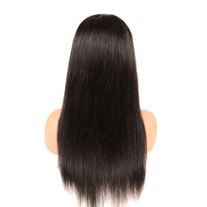 4x4 Straight Human Hair Lace Closure Wig 150%