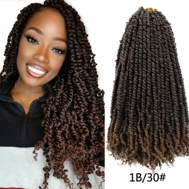 Pre Twisted Passion Twist Crochet Hair 24''
