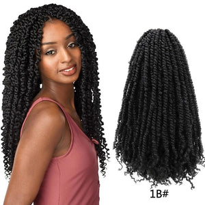 Pre Twisted Passion Twist Crochet Hair 18''