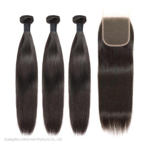 Socialite Straight Brazilian Human Hair Bundles With Closure Demyhair