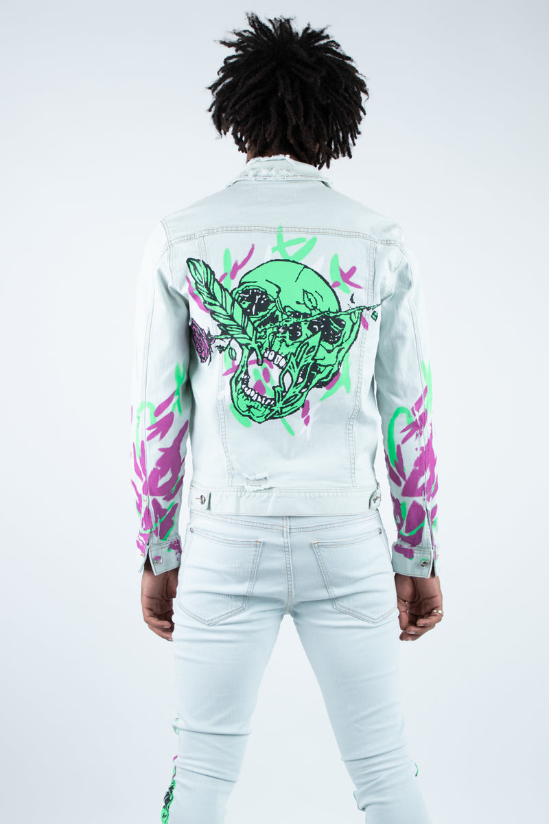 DRAKE PRINTED DENIM JACKET LIGHT
