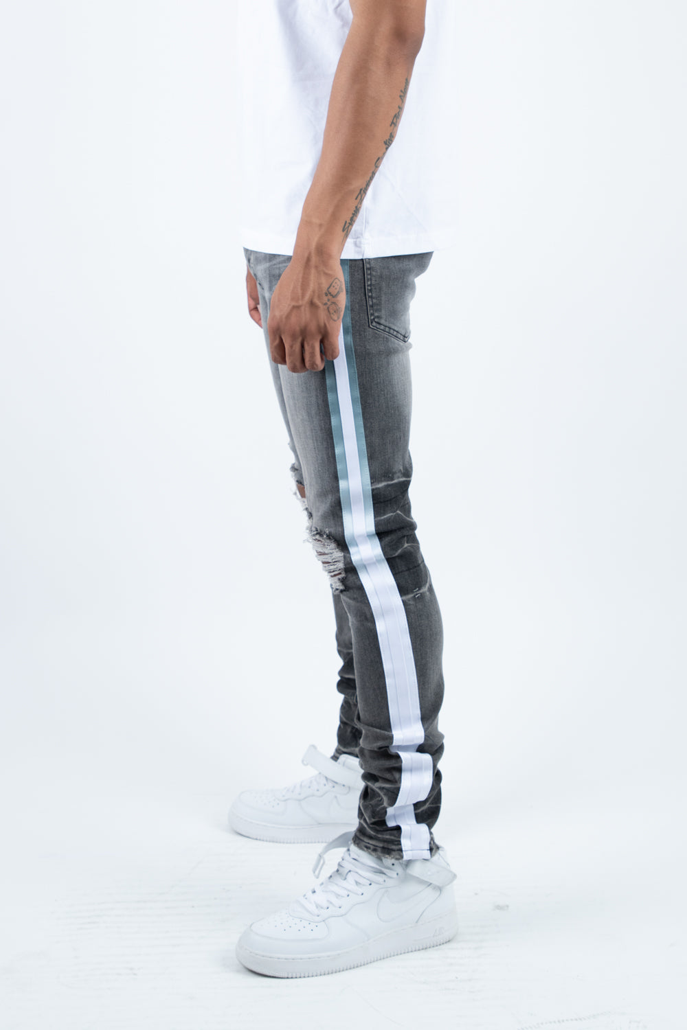 JORDAN STRIPE DENIM (Grey)