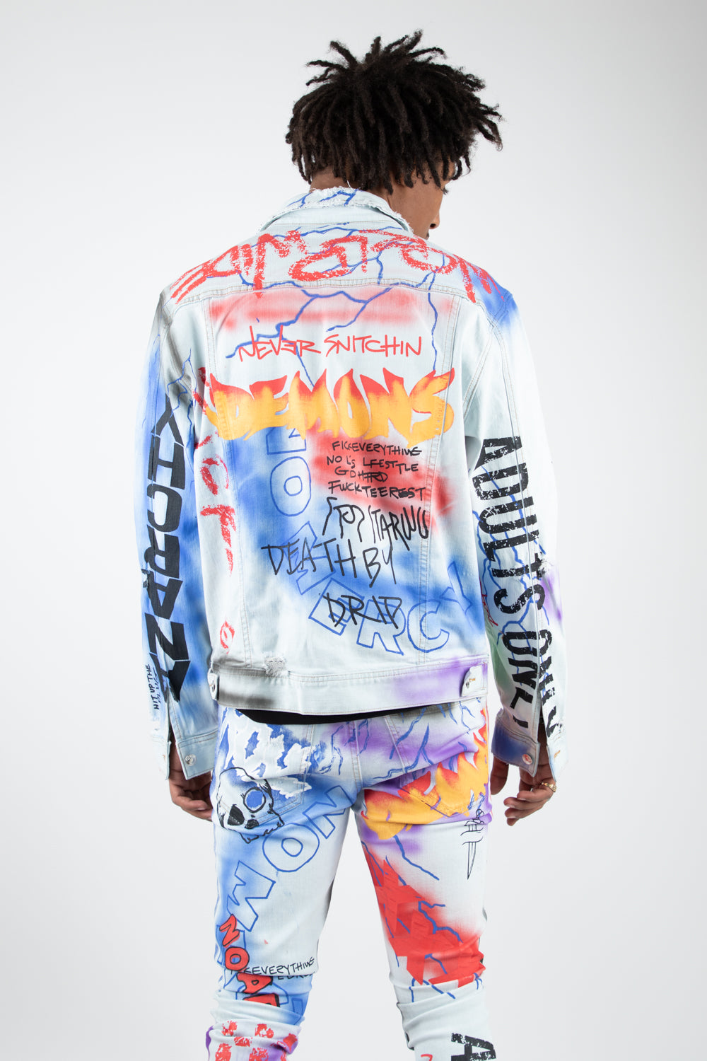 ALEC PRINTED DENIM JACKET LIGHT