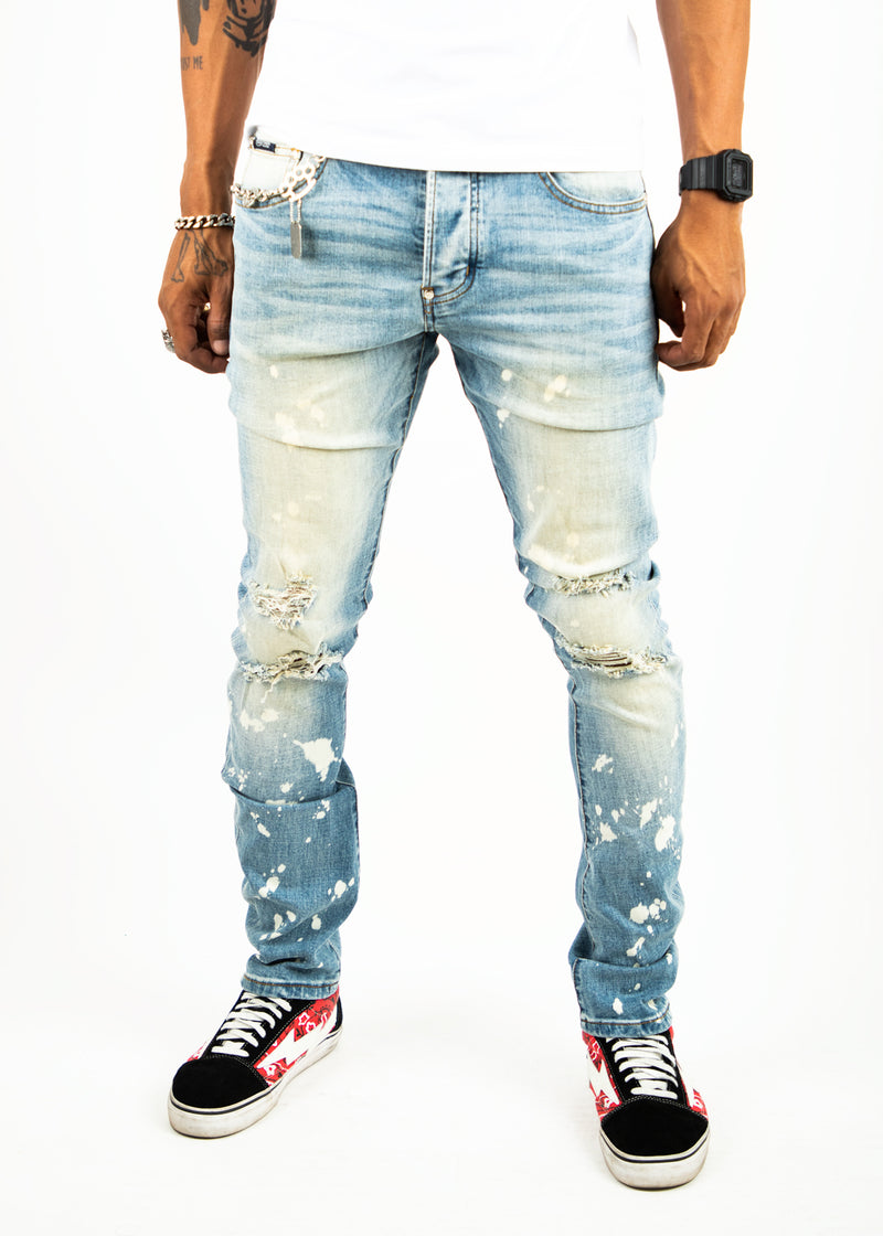BROOKS BLEACH SPLATTER JEAN