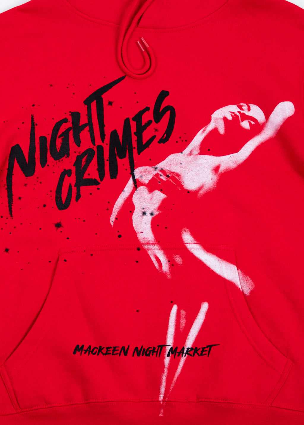 NIGHT CRIMES RED HOODIE