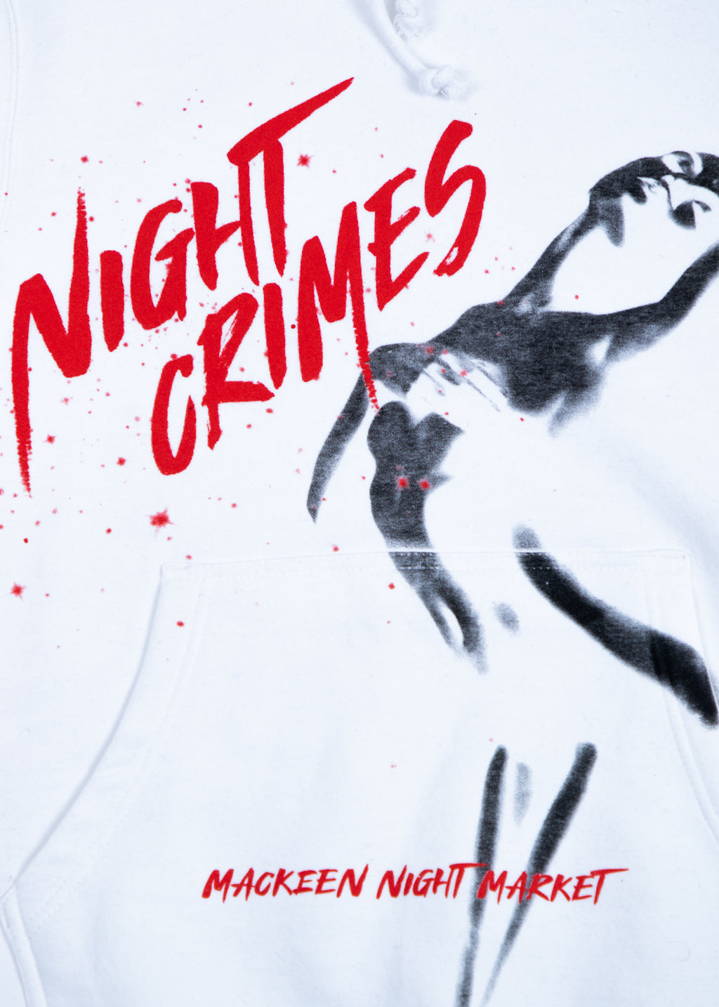 NIGHT CRIMES WHITE HOODIE