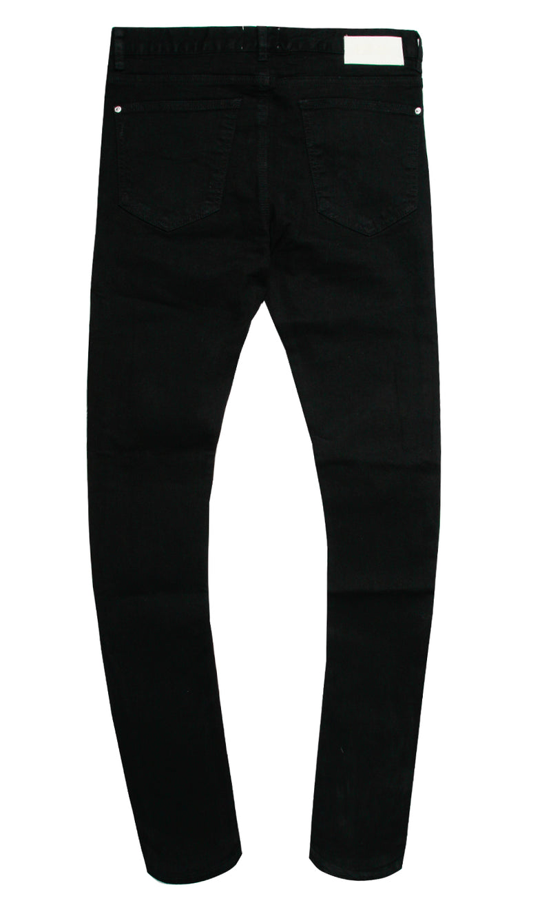 UPPER ECHELON CRYSTAL DENIM PANT BLACK
