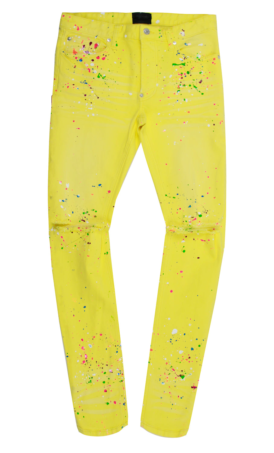 QUENTIN YELLOW SPLATTER PANT