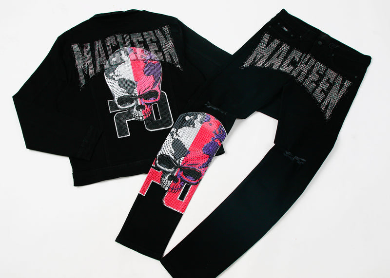 WORLDWIDE CRYSTAL PANT BLACK
