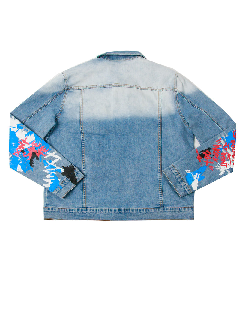 FANG DENIM JACKET BLUE